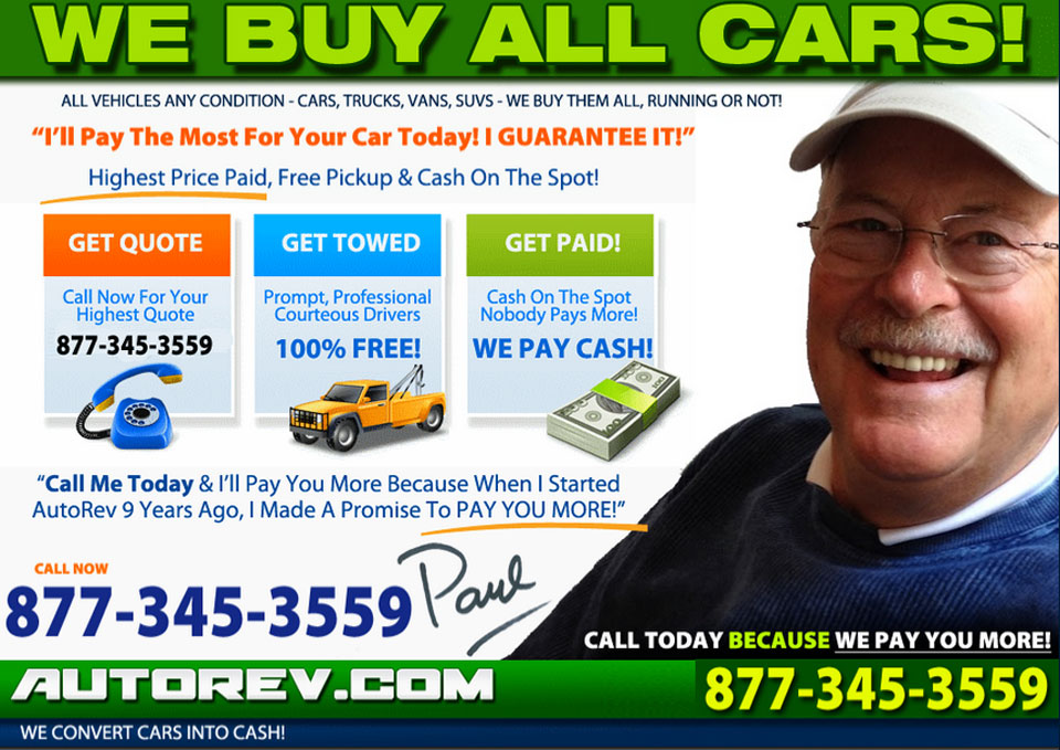 Sell Car For Cash Today - AutoRev